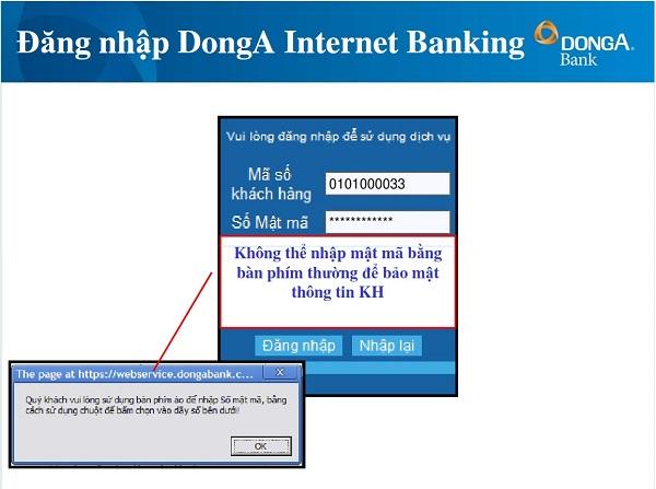 đăng ký dịch vụ Internet banking Đông Á 7