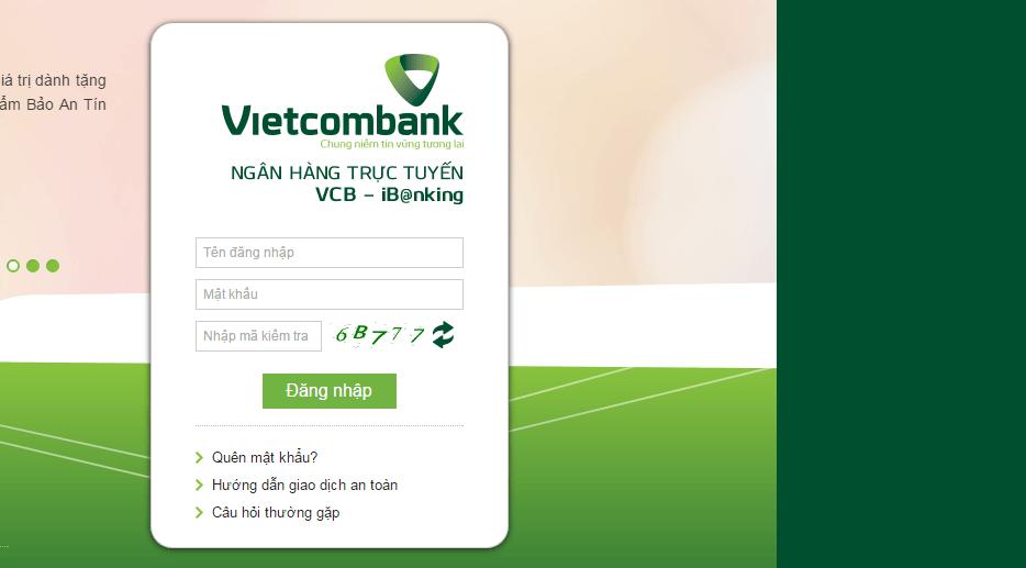 Chuyển tiền từ thẻ ATM Vietcombank sang ngân hàng khác