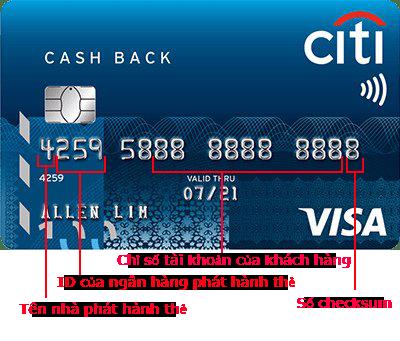 thẻ visa có mấy số