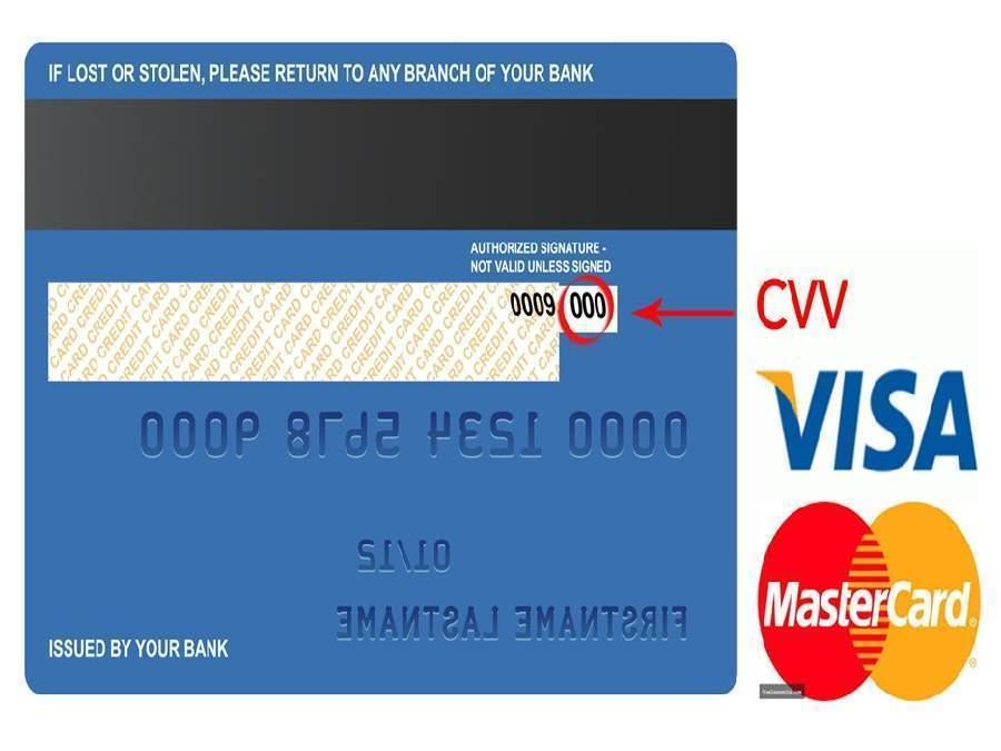 số thẻ tín dụng visa