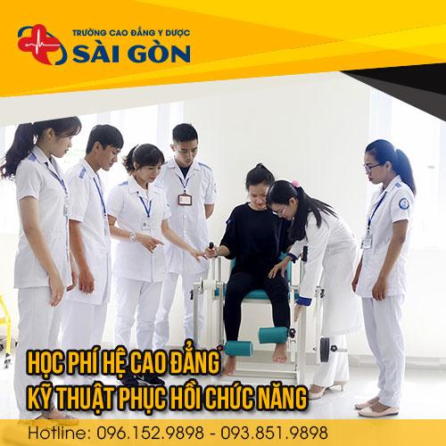 Học phí Cao đẳng Kỹ thuật Phục hồi chức năng 2021 của Trường Cao đẳng Y Dược Sài Gòn